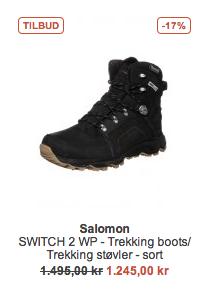 Salomon støvler tilbud