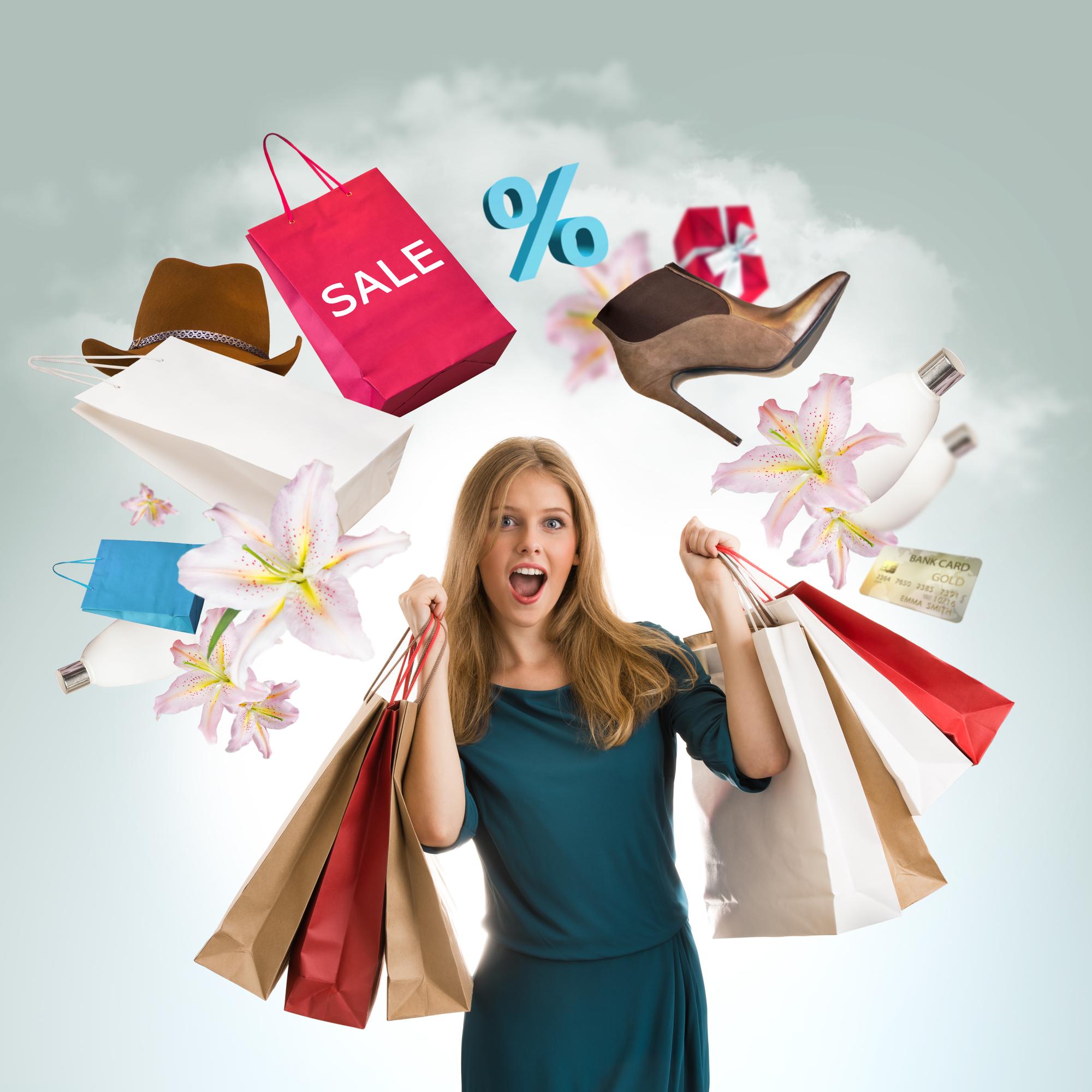 Kvinde shopper