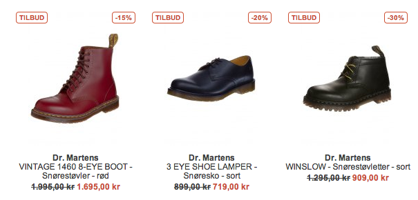 Dr. Martens støvler tilbud