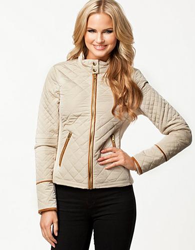 Quiltet jakke dame