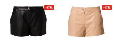 shorts i læder