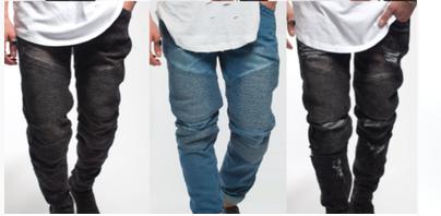 biker jeans styled