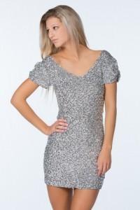 sølv festkjole